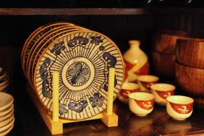 食器、グラスも充実♪ - 京都高瀬川の町家  CanalHouseの室内の写真