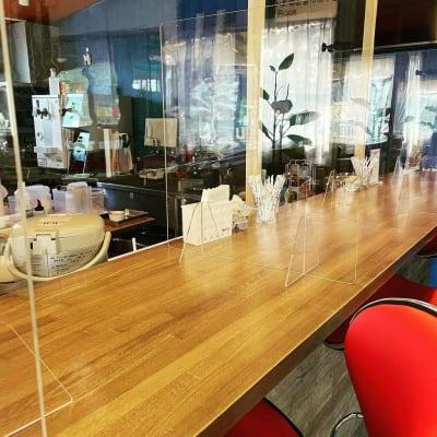 感染予防対策しています。 - ファーマーズカフェ&ゴルフ シェアキッチン、レンタル、貸店舗の室内の写真