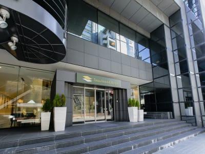 テンザホテル札幌 テレワーク用客室の入口の写真
