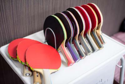 貸出用ラケット - MOANA目白店 練習会や講習会等にぴったり!!の室内の写真