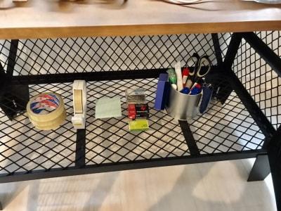 文房具もあるので事務作業も安心! - SSS渋谷 SSS渋谷Ⅱ レンタルスペースの設備の写真