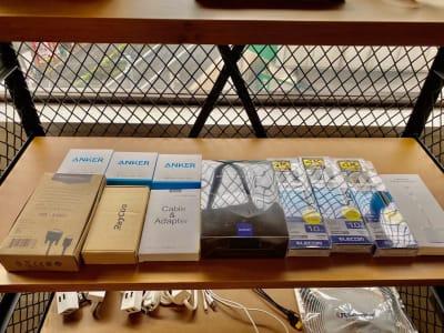 接続ケーブルetc... - SSS渋谷 SSS渋谷Ⅱ レンタルスペースの設備の写真