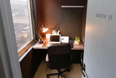 集中したい作業やWeb会議に最適な1名様向け個室です。 - Basis Point上野店 1名個室 - Cの室内の写真