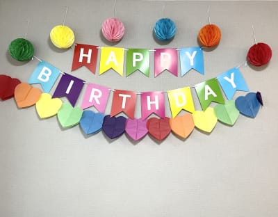 誕生日会ようの飾は常時飾り付けされているため、ゲストによる飾り付けは不要です。 - HAPPYスペースかしわ パーティールーム、撮影の設備の写真