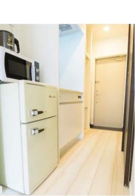 ミニキッチンがあります。調理器具も置いてあります。 - Hikario新宿 ワークスペース201の設備の写真