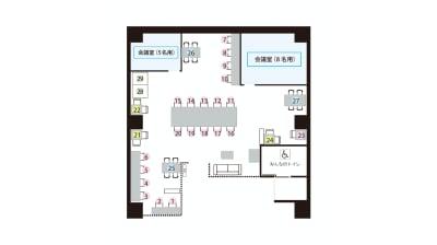 【モディコワーキング】 モディコワーキング4人No.27の室内の写真