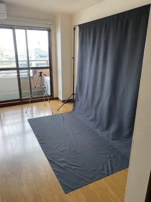 常設してあります。 撮影用黒布。 - レンタルスペース ケイズ 小さな撮影スペースの室内の写真