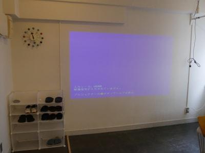 スクリーン - カメラ堂ビル「スタジオ」 貸し会議室(3階)・スタジオの室内の写真