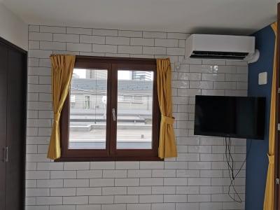レンガ調のかわいい壁です。 - Hikario新宿 ワークスペース301の室内の写真