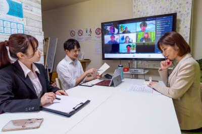 WEBミーティングに♪ - 市川駅前としょかんのうらいちかわ 市川駅前レンタルスペース・会議室の室内の写真