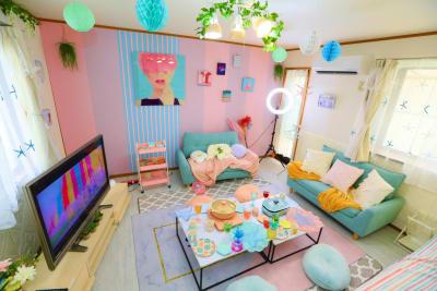 ココリアSara新大久保 とっても可愛いプライベート空間の室内の写真