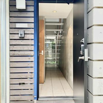 電子キーで開きます。 - KITCHEN & OFFICE 原宿店の入口の写真