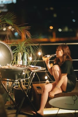 HOTEL ORIGO 中洲 夏季限定BBQ利用スペースの室内の写真