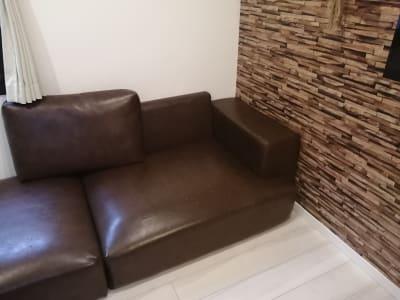 ソファベッドにも使えるソファです。 - Hikario新宿 ワークスペース 203の室内の写真