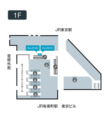 テレキューブ JPタワーKITTE 25-01の室内の写真