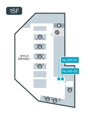 テレキューブ 梅田阪急ビルオフィスタワー 15階 100-01の室内の写真