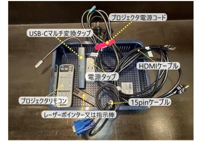 各種ケーブルが無料で利用できます - レンタルスペース ノア 中会議室(2F)の設備の写真