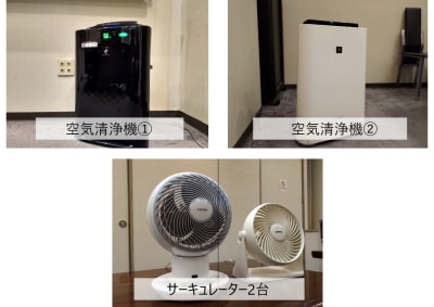 空気清浄機、サーキュレーターあり - レンタルスペース ノア 大会議室(2F)の設備の写真