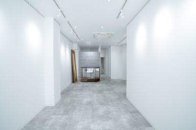 白を基調としたシンプルなギャラリーです。 作品の色をそのまま綺麗に見せる白いライトを採用しています。 - Gallery-01 レンタルギャラリーの室内の写真