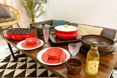 お料理器具も一式ご用意しております - レンタルスペース【ルームルーム】 レンタルスペースルームルームの室内の写真