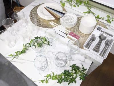 食器類、豊富に揃っています✨ - レンタルスペース あみん家 レンタルスペースの室内の写真