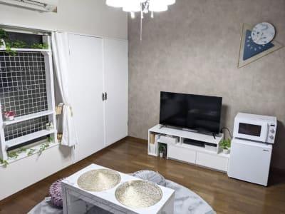 テレビも見れてくつろげます✨YouTube、Netflixなど各種動画が観れます✨ - レンタルスペース あみん家 レンタルスペースの室内の写真