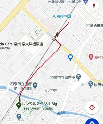 和泉府中駅より徒歩 約12分☆  - レンタルスタジオBigTree 和泉和気店 Aルーム の室内の写真