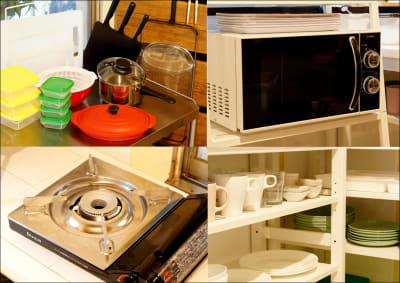 ■共用キッチン■ - WeHome ■個室ラウンジ■定員1~4名■の室内の写真
