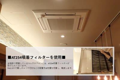 AT254吸着フィルターを使用 Pm2.5を付着しホコリや花粉などの有害汚染物質を吸着、軽減します、 - THE STAY OSAKA コワーキング・多目的スペースの室内の写真