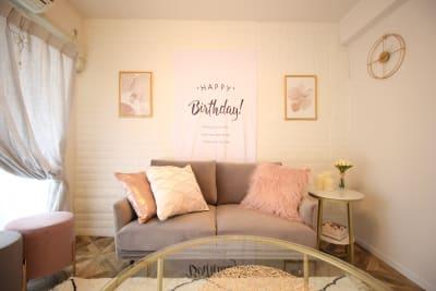 誕生日会などのお祝いに♡ - カルペディエム池袋 撮影・キッチン利用に!広さ30㎡の室内の写真