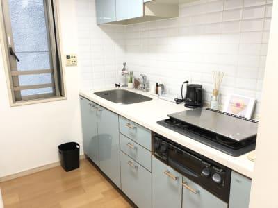 キッチン。 - レンタルスタジオ フィットネスペースの設備の写真