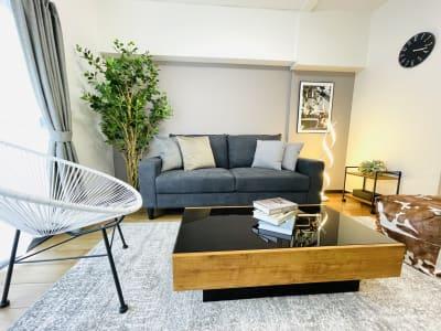 高級感ある家具にもこだわりました𓂃◌𓈒𓐍 - party coco Cozy名駅の室内の写真