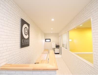 待合室 - wi-fi、更衣室、待合室完備の室内の写真