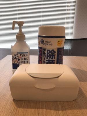 除菌グッズ - 幡ヶ谷駅から徒歩2分の会議室 レンタル会議室 春山の設備の写真