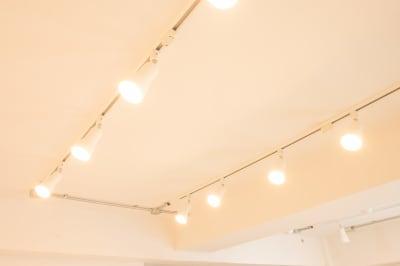 撮影フロアの照明です。 4列あり、列ごとに昼光色、電球色の切り替えが可能です。 こちらは電球色です。 - jaru studioの室内の写真