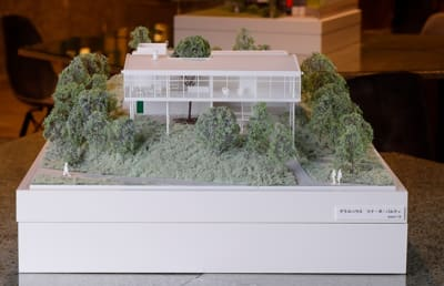 店内展示の建築模型 サヴォア邸 - アーキテクチャカフェ棲家 カフェ店内テーブルスペース貸のその他の写真