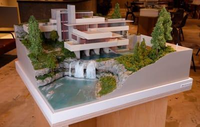 店内展示の建築模型 落水荘 - アーキテクチャカフェ棲家 カフェ店内テーブルスペース貸のその他の写真