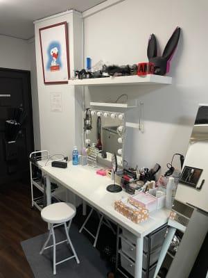 パウダーエリア - STUDIO AIR-KOBE- 神戸最安レンタルスタジオ!!の室内の写真
