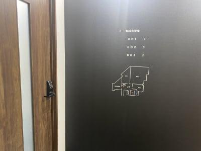 自習室うめだの貸し会議室 難波店 なんば離れ 803号室の入口の写真