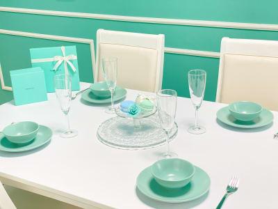 食器類全て無料です♪ - H.R.S.O 大須ティーブルー Heavenly 大須ブルーの室内の写真