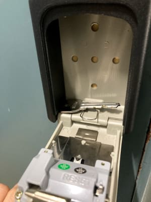 中に鍵があります。この鍵を使ってドアを開けてお入りください。 - アーバンスペース雷門 雷門三 my officeの室内の写真