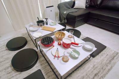 調理器具・食器類も充実しています。👩🍳👨🍳 - FUN HOUR 心斎橋 パーティールームの室内の写真
