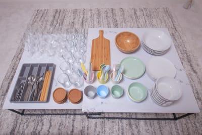 食器類も充実しています。👩🍳👨🍳 - FUN HOUR 心斎橋 パーティールームの設備の写真