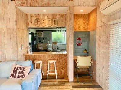 カウンターキッチン - The DAY. 戸建貸切バーベキュースペースの室内の写真