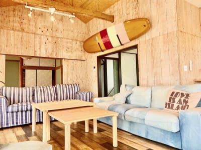 古民家をサーファーズハウスにリノベーションしています - The DAY. 戸建貸切バーベキュースペースの室内の写真