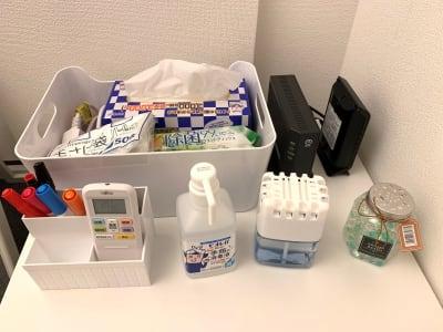 入室前のアルコール消毒と退出前の除菌清掃のご協力お願いします。 - L&Cスペース日本橋駅前 C号室の設備の写真