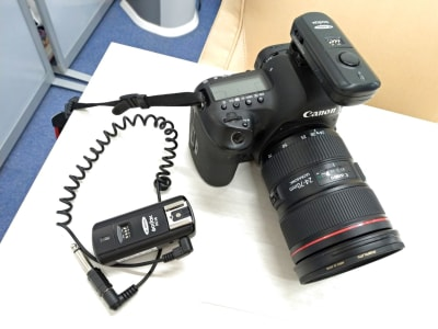 キャノン、ニコン用のラジオスレープ無料貸出有。※カメラの貸出別途で可能 - ココスタジオ グレースタジオの室内の写真