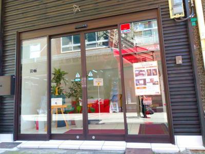 自然光が差し込むスタジオの入り口です。 - ココスタジオ グレースタジオの入口の写真