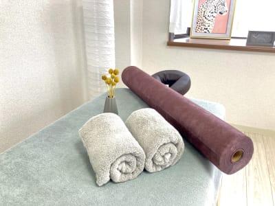 防水シーツ完備。 - 天王寺レンタルサロン レンタルサロン の室内の写真
