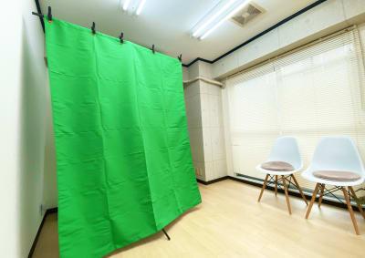 合成背景用クロマキー布あります✨ - レンタルスタジオ キブラの室内の写真